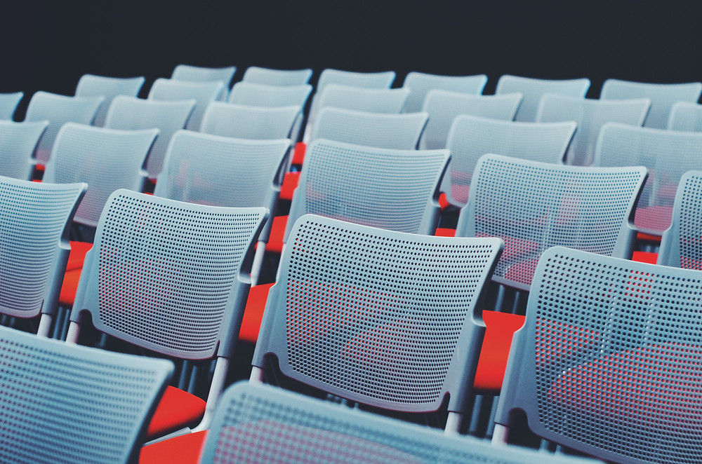 auditorium with empty chairs