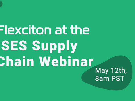 Flexciton CEO at the ISES Supply Chain Webinar