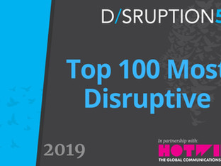 We did it again...Flexciton amongst the top 100 most disruptive companies in 2019