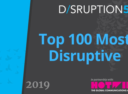 We did it again... Flexciton amongst the top 100 most disruptive companies in 2019