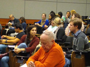 Raymond Hain on Natural Law crowd photo.