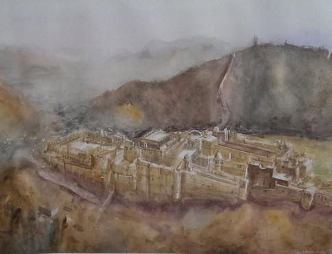 Plein air Amber Fort