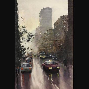 Plein-air watercolor Hong Kong