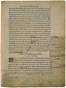 "Montaigne, ""Essais"", manuscrit corrigé."