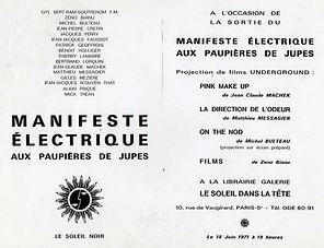 """Messagier, """"Manifeste électrique aux paupières de jupes"""""""