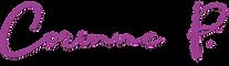 Logo Corinne Photographie pour Wix 2018.