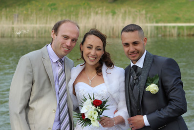 Frère de la mariée, la mariée & son mari