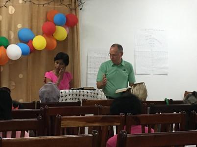 Steve teaching local leaders