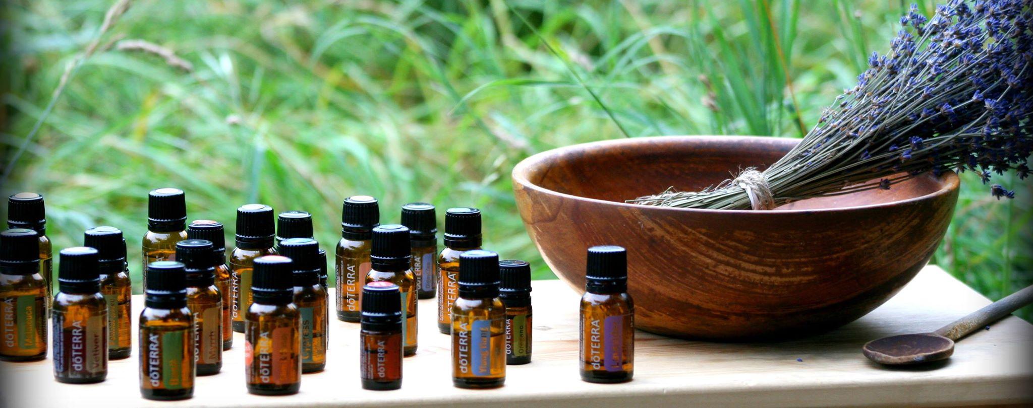 doterra bottles and herbs