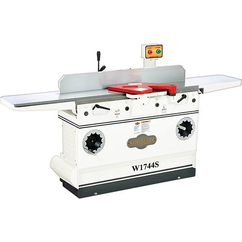"W1744S 12"" Heavy-Duty Jointer with Adjustable Beds and Spiral Cutterhead"