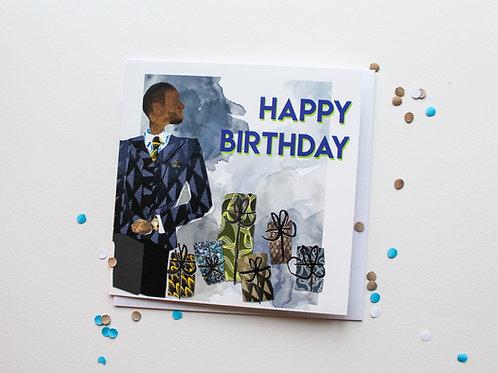 Happy Birthday -Suited Man