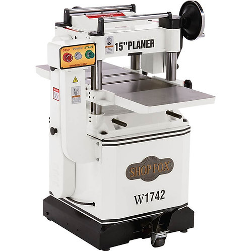 "W1742 3 HP 15"" Planer with Cast Iron Wings & Mobile Base"