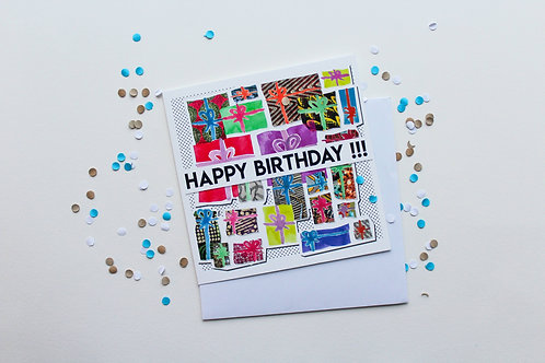 African Print Birthday Card