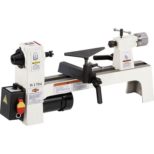"W1704 8"" x 13"" Bench-Top Wood Lathe"