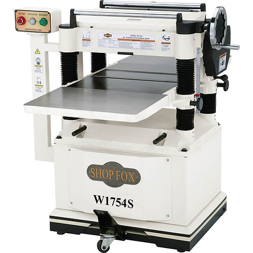 "W1754S 20"" Planer with Built in Mobile Base and Spiral Cutterhead"