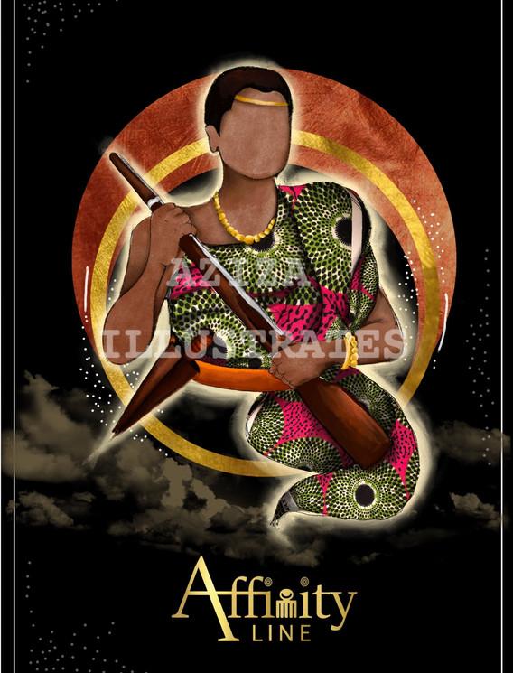 Affinity Line- Nana Yaa Asantewaa Illustration