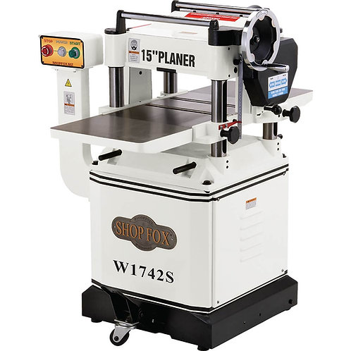 """W1742S 3 HP 15"""" Planer with Cast Iron Wings & Mobile Base and Spiral Cutterhead"""