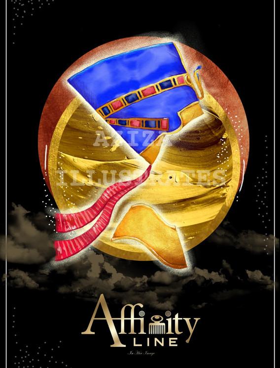 Affinity Line- Queen Nefertiti Illustration