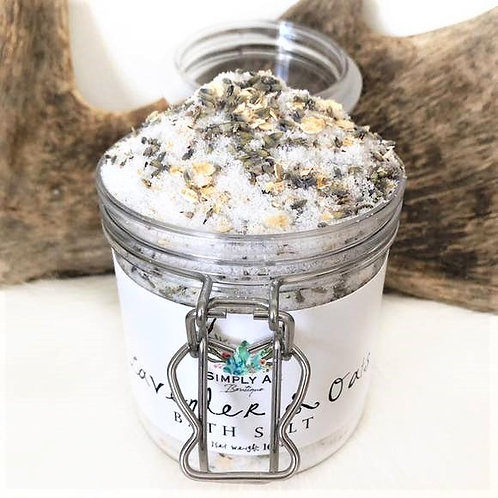 Lavender & Oats healing bath salts 7oz