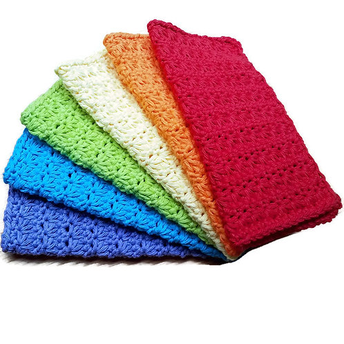 Hand knitted wash cloth
