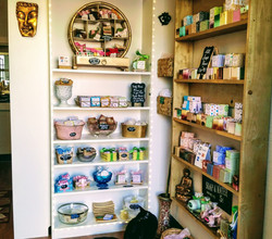 soap goodies on the shelves
