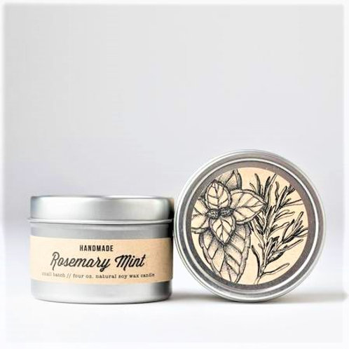 Rosemary Mint 4oz travel candle