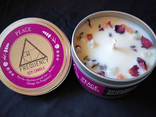 Peace Crystal Natural Soy Candle