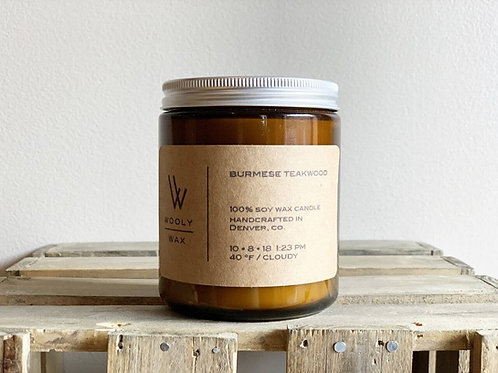 Burmese Teakwood 8 oz candle