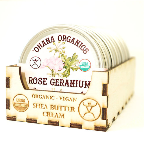 Rose Geranium Organic Shea Butter Cream