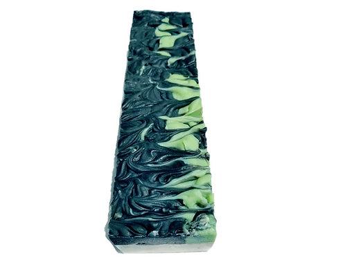 Charcoal Mint Soap Loaf