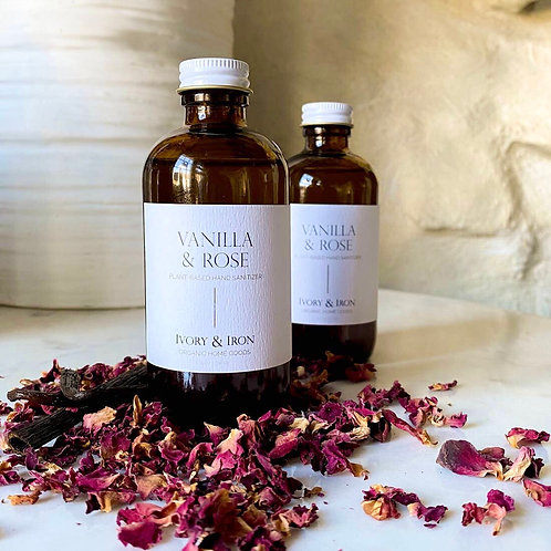 Vanilla & Rose natural hand sanitizer