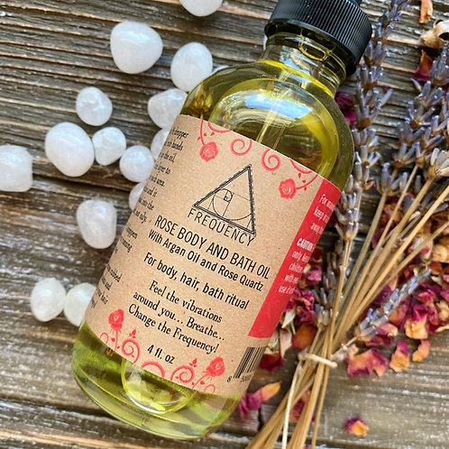 Rose Body, Hair & Bath Oil