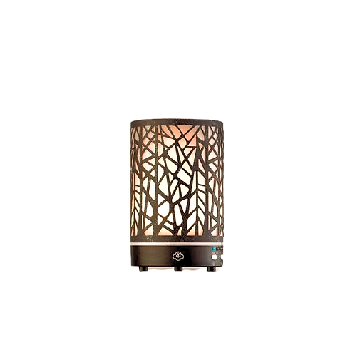 Forest Rusted Metal Essential Oil diffuser with LED lights