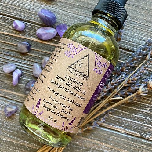 Lavender bath, body, amethyst oil