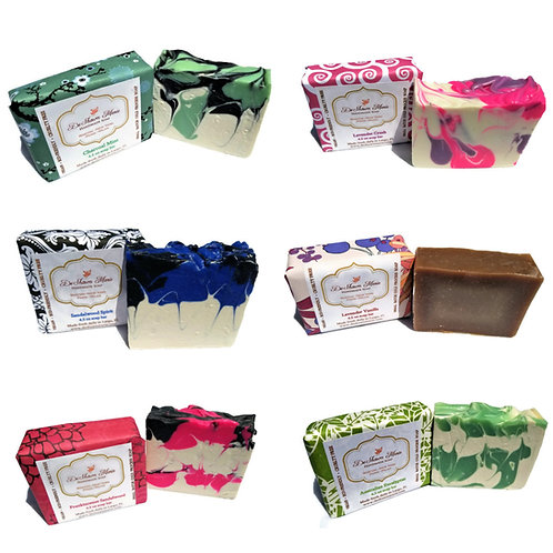 Top selling assorted soap 6 pack