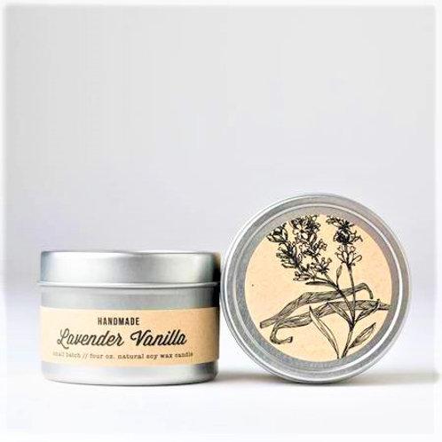 Lavender Vanilla 4oz travel candle