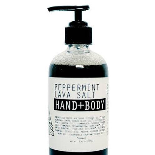 Peppermint Lava Salt Hand & Body Wash