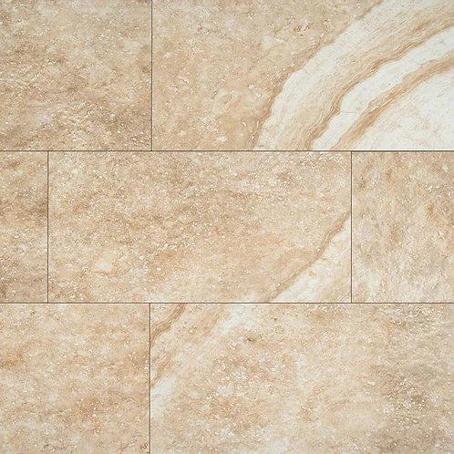 """Aliso Bone Porcelain Floor Tile, 12""""x24"""" Tiles, Set of 16"""