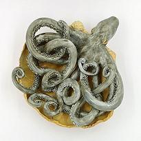 Octopus sculpture good karma clay maxine
