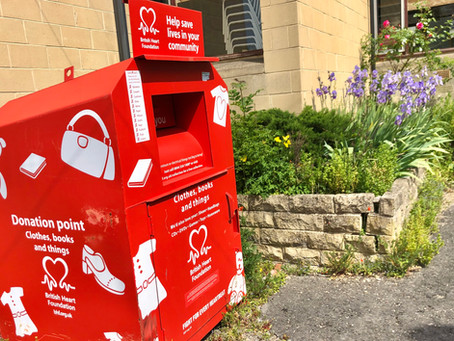 Donate to the British Heart Foundation on our doorstep!