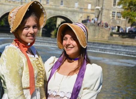 Regency-costumed Jane Austen fans descend on Bath