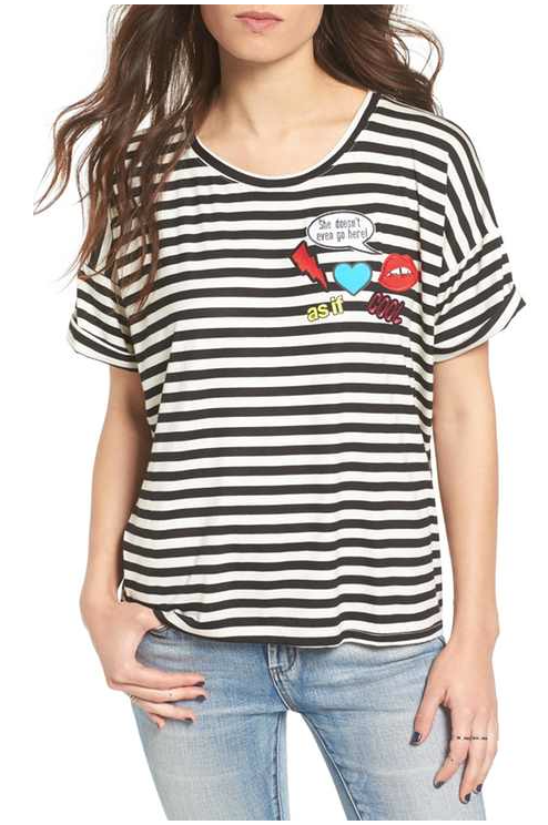 Ten Sixty Sherman Patch Stripe tee
