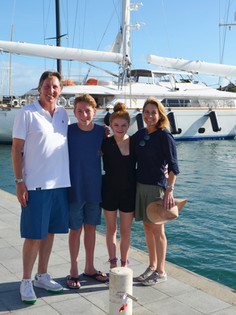 My whole family. In St. Barths.