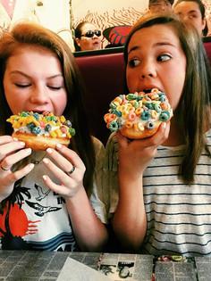 Emerson and I -Voodoo doughnuts Austin,TX -Summer '17