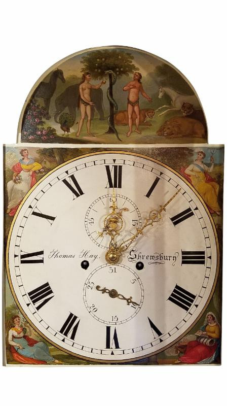 Did you know that the four season often appear on the face of a tall clock?