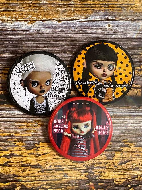 SplatterGirlUK Button badges set