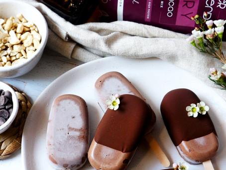 Cherry Liquorice Cacao Dippy Popsicles