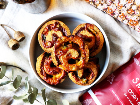Corn Bread Scroll Muffins w Mozzarella and Jalapeno's