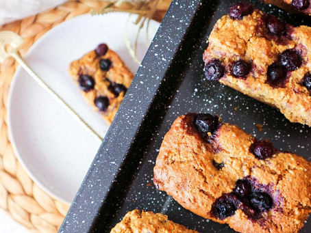 Spiced Carrot and Blueberry Mini Cakes