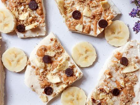 Frozen Salted Banana & Caramel Yoghurt Bark